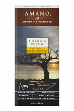 Amano 70% Cocoa Dark Chocolate, Cuyagua Village, 2oz (Single) (12 Pack)