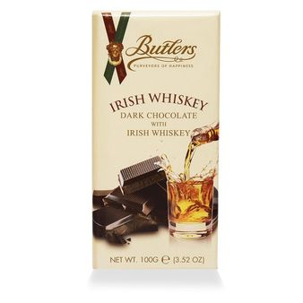 Butlers Dark Chocolate with Irish Whiskey Bar (200g, 6 Pack)