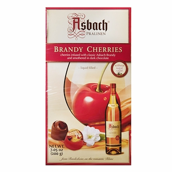 Asbach Edle Kirschen Chocolate Brandy Cherries, 7.05oz/200g.  (Single)