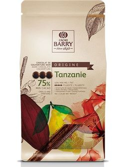 Cacao Barry Tanzanie 75% Dark Chocolate Baking Discs - 5.5lb Bag