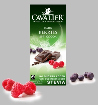 Cavalier Berries 85% Dark Chocolate Bar (14 Pack)