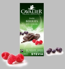 Cavalier Berries 85% Dark Chocolate Bar