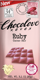 Chocolove 34% Ruby Cacao Bar (12 Pack)