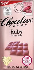 Chocolove 34% Ruby Cacao Bar (6 Pack)