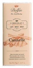 "Dolfin Belgian Chocolate - ""Cannelle"" Milk Chocolate Bar with Cinnamon , 70g/2.47oz."