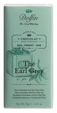 "Dolfin Belgian Chocolate - ""Th� Earl Grey"" Dark Chocolate Bar with Earl Grey Tea, 70g/2.47oz."