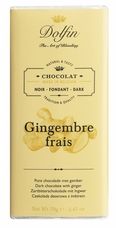 "Dolfin Belgian Chocolate - ""Gingembre Frais"" Dark Chocolate Bar with Fresh Ginger, 70g/2.47oz."