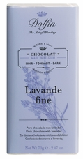 "Dolfin Belgian Chocolate - ""Lavande fine"" Dark Chocolate with Lavender Bar, 70g/2.47oz."