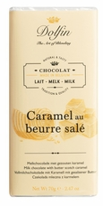 "Dolfin Belgian Chocolate - ""Caramel au beurre sal�"" Milk Chocolate with Butterscotch Caramel 70g/2.47oz"