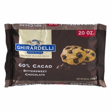 "Ghirardelli Chocolate - ""Bittersweet Chocolate"" Premium Baking Chips, 60% Cocoa (20oz)"