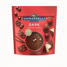 Ghirardelli Dark Melting Wafers 10oz/283.3g Bag (6 Pack)