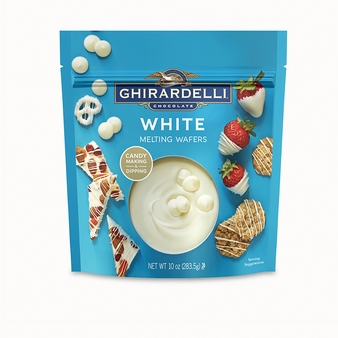 Ghirardelli White Melting Wafers 10oz/283.8g Bag (6 Pack)