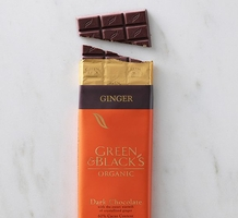 "Green & Black's Organic Chocolate - Dark Chocolate with Crystallized ""Ginger"" Pieces, 60% cocoa, 100g/3.5oz"