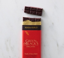 "Green & Black's Organic Chocolate - Maya Gold ""Fair Trade"" Dark Chocolate Bar, 100g/3.5oz."