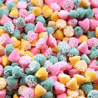 """Guittard Chocolate - """"Petite Assorted Mint Nonpareils"""" Pink, Green and Yellow, 25-lb Case"""