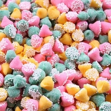 "Guittard Chocolate - ""Petite Assorted Mint Nonpareils"" Pink, Green and Yellow, 25-lb Case"