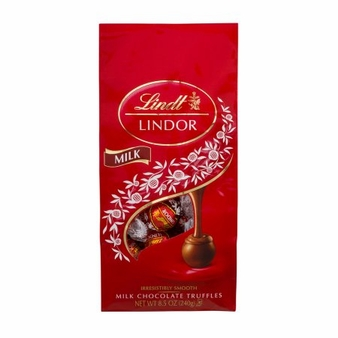 Lindt Milk Chocolate Truffles, 8.5oz Bag (Single)
