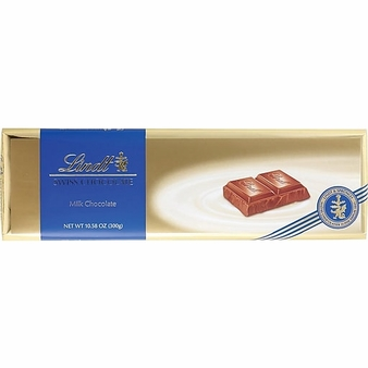 "Lindt Swiss Chocolate - Milk Chocolate ""Gold Wrap"" Bar, 300g/10.58oz. (5 pack)"