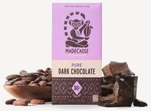Madecasse Chocolate - Madagascar Dark Chocolate, 80% Cocoa, 75g/2.64oz. (6 Pack)