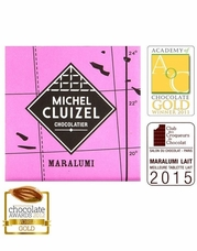 Michel Cluizel French Chocolate - 47% 1st Cru de Plantation Maralumi Lait, Milk Chocolate, Single Estate, 5gr. ea., 12ct. Bag (Single).