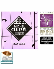 Michel Cluizel French Chocolate - 50% 1st Cru de Plantation Mangaro Milk Chocolate, Single Estate, 5gr. ea., 12ct. Bag (Single).
