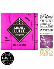 Michel Cluizel French Chocolate - 64% 1st Cru de Plantation Maralumi Dark Chocolate, Single Estate, 5gr. ea. (Single).