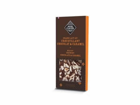 Michel Cluizel Milk 45% Cocoa Crunchy Chocolate & Caramel 100g/3.5oz (15 Pack)