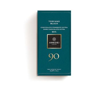 Amedei Toscano Black 90% Dark Chocolate Bar (12 Pack)