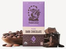 Madecasse Chocolate - Madagascar Organic Dark Chocolate, 92% Cocoa, 75g/2.64oz. (6 Pack)