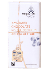 Nirvana 72% Dark Chocolate Bar with Blueberry & A�ai (12 Pack)
