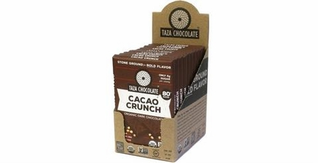 Taza Cacao Crunch, 80% Cocoa 2.5oz (Pack of 10)