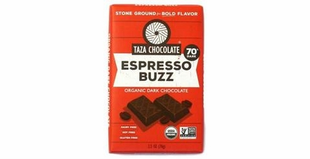 Taza Espresso Buzz 70% Cocoa Dark Chocolate, 2.5oz (5 Pack)
