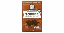 Taza Toffee Almond & Sea Salt, 60% Cocoa, 2.5oz (Pack of 5)