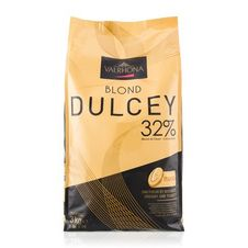 """Valrhona Chocolate - """"Les Feves"""" """"Dulcey"""" 32% Cocoa, 3kg/6.6 lbs , Repackaged"""