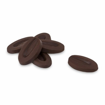"""Valrhona French Chocolate - """"Les Feves"""" Equatoriale 55 % Cocoa, 1 Pound. Repackaged"""