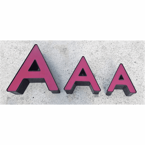 Channel Letter A - MEDIUM