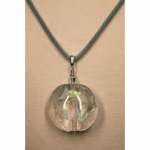 Encased Dichroic Shards Necklace