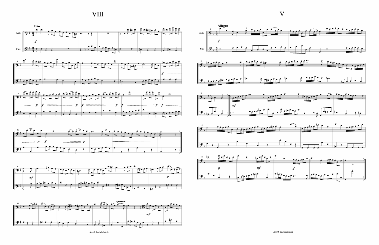 ARIOSTI - Duet for Cello and Bass