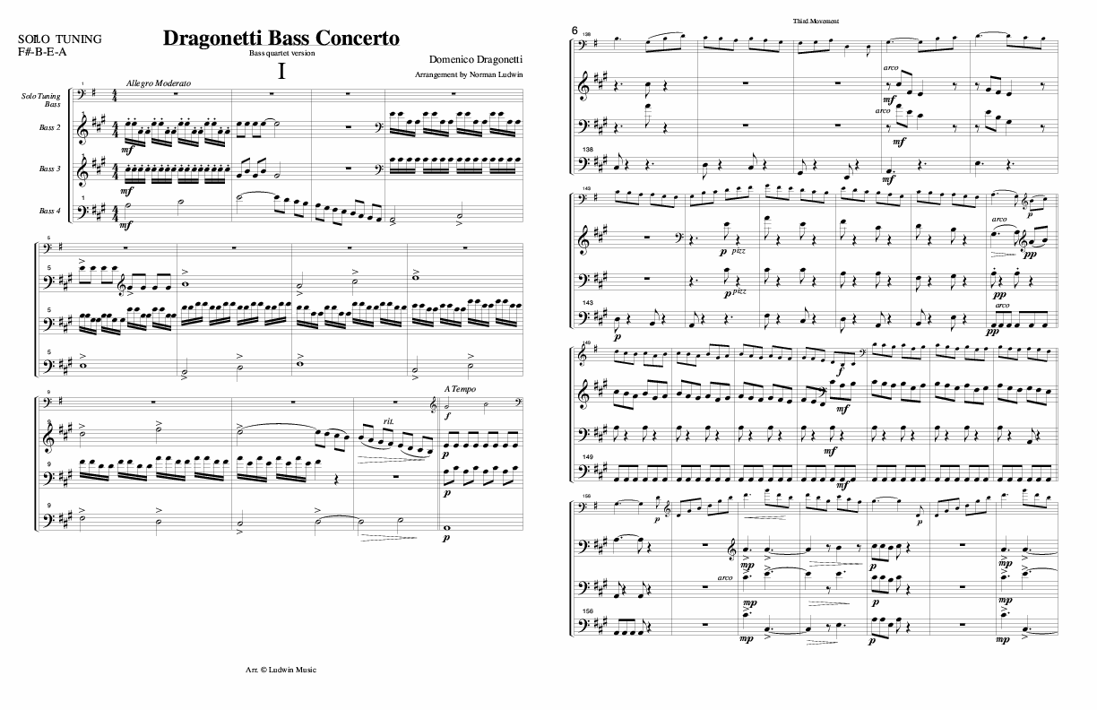 DRAGONETTI - Arrangement of Concerto
