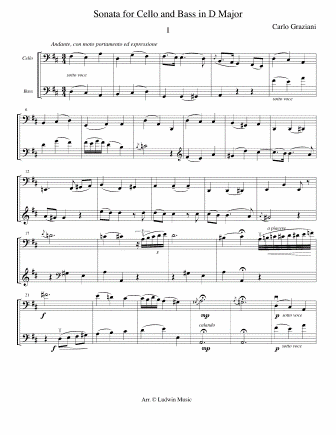 GRAZIANI - Duet for Cello and Bass