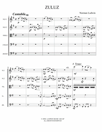 LUDWIN - Zuluz for String Orchestra