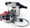1030 Chef's Design Stainless Steel Pressure Cooker 10.9 Quart