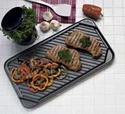 3560 Chef's Design Non-Stick Double Burner Reversible Griddle
