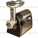 DISCONTINUED Weston Stainless Steel Electric Grinder #5 with Shredder/Slicer  Attachment