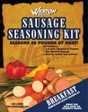 Weston Sausage Seasoning Kit Breakfast Sausage for 30 lbs meat