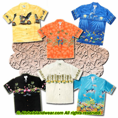Border Design Aloha Shirt