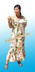 Hawaiian Muumuu Full Length  - 403White/Pink