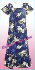 Hawaiian Muumuu Full Length  - 413Navy