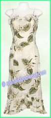 Hawaiian Spaghetti Dress - 413White