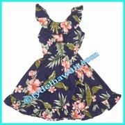Girl Aloha Dress - 403Navy/Pink